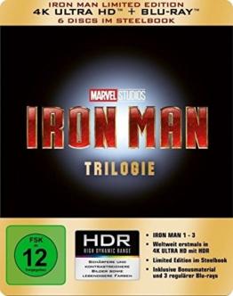 Iron Man-Trilogie Steelbook (4K Ultra HD)