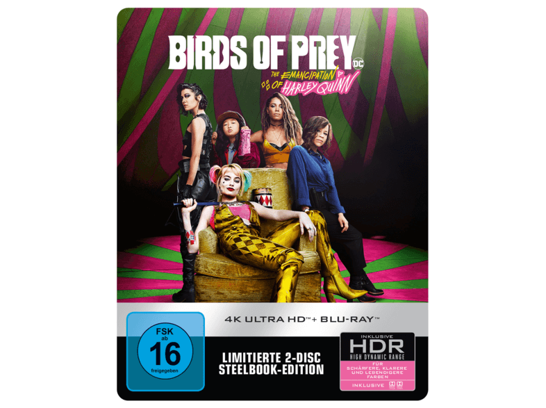Birds of Prey - The Emancipation of Harley Quinn 4K Steelbook