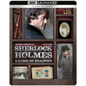 Sherlock Holmes 2 Spiel im Schatten - Zavvi Exklusives 4K Ultra HD Steelbook Vorderseite