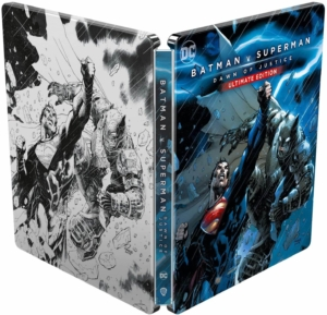 Batman v Superman 4K illustrated Artwork Steelbook