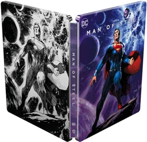Man of Steel 4K illustrated Artwork steelbook