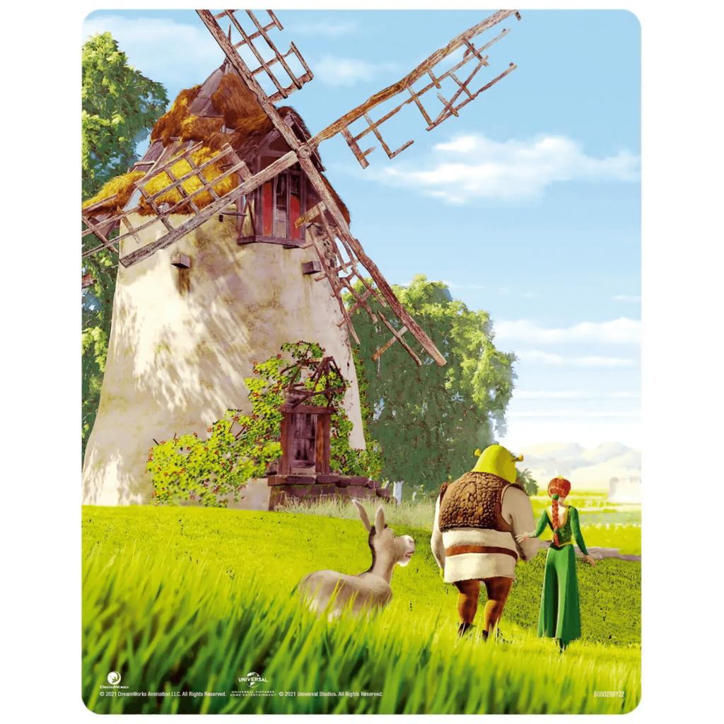 Shrek 4K Steelbook Rückseiten