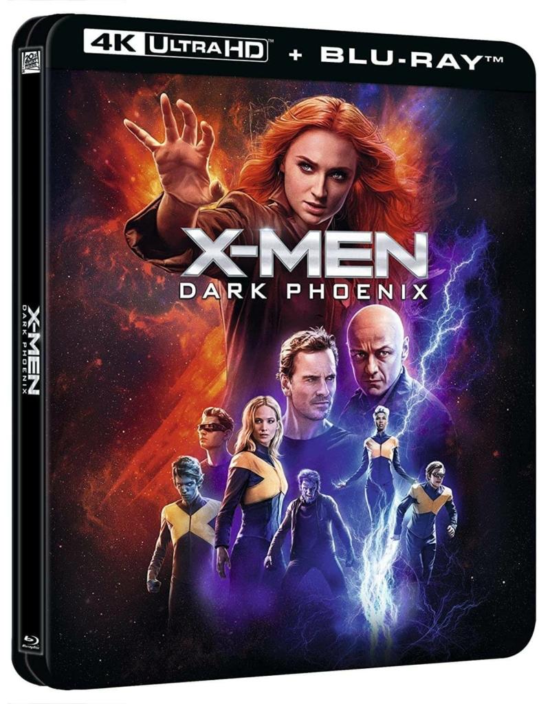 X-Men Dark Phoenix Lenticular Steelbook Rückseite Vorderseite